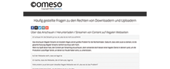 Download & Upload Rights FAQ (German)